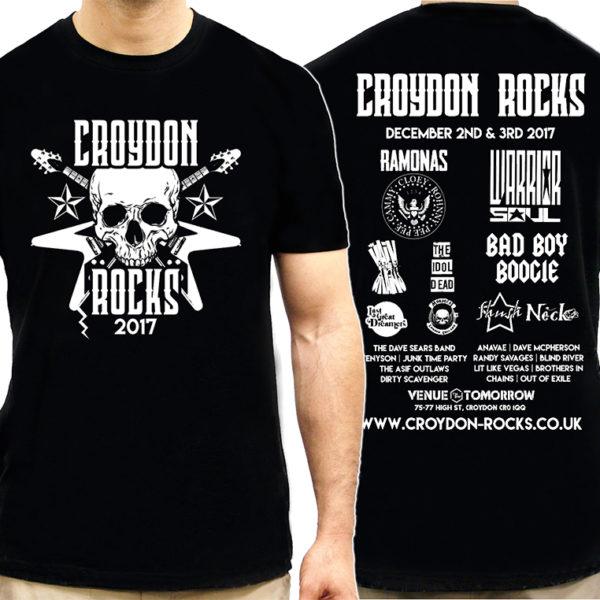 croydon rocks 2017 tour tshirt